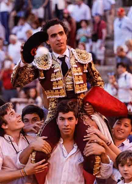 Joaquín Galdós, tras triunfar hoy domingo en Sevilla. (FOTO: Arjona)
