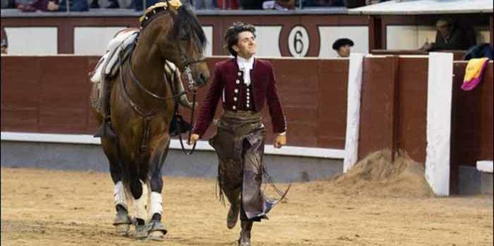 Diego Ventura, en la vuelta al ruedo con una oreja hoy en Madrid. (FOTO: las-ventas.com)