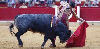 El novillero sevillano Pablo Aguado, esta tarde en Zaragoza.