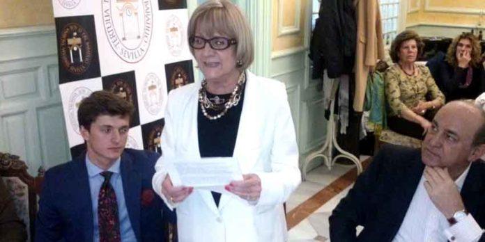 La presidenta de la Tertulia Taurina 'Los 13', Martina Blatiere.