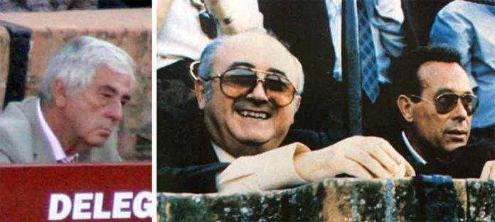 A la izquierda, Luis García Caviedes. A la derecha, Manuel Cisneros en compañía de Curro Romero.
