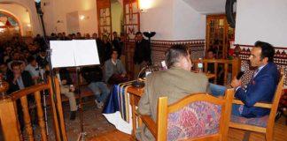 El Cid, durante la charla en Jaén.