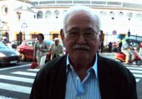 Delmiro Salazar, accediendo a la plaza maestrante en sus últimos años. (FOTO: Javier Martínez / SEVILLA TAURINA)