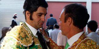 Morante y Pepe Luis Vázquez en Utrera en 2013. (FOTO: Pepe Sánchez)