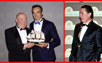 El Cid y José Antonio Campuzano, durante la gala de entrega de premios en Santander.