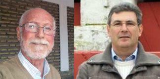 El nuevo presidente del Círculo taurino de Osuna, Cristóbal Gallardo, y el pregonero de 2017, Manuel Quirós.