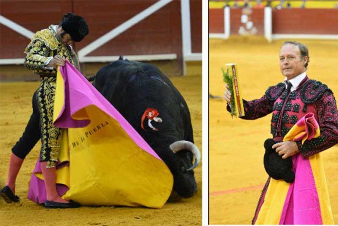 Morante a la verónica y la vuelta por un día de Pepe Luis, hoy en Illescas (Toledo).