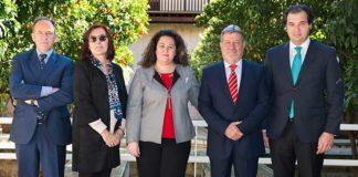 Los cuatro presidentes de la Maestranza se han reunido hoy con la delegada de la Junta de Andalucía en Sevilla.