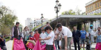 El acto de promoción del toreo hoy en el centro e Sevilla. (FOTO: Toromedia)