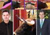 El director general de Interior de la Junta de Andalucía, Demetrio Pérez; el polémico presidente José Luque Teruel; y detalles de los pitones de varios novillos lidiados el domingo en la Maestranza.