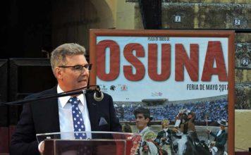 Manuel Quirós Lupiañez, durante su pregón en Osuna.