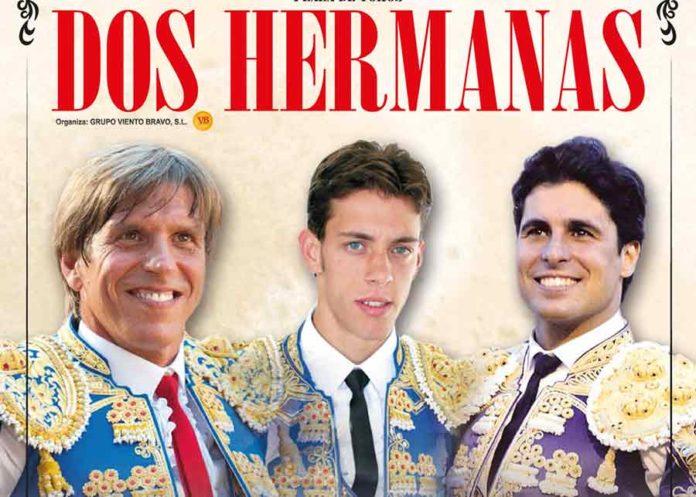 Cartel anunciador para Dos Hermanas.