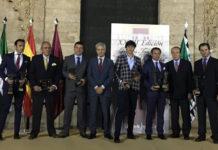 Los premiados con los trofeos 'Puerta del Príncipe' de la Feria 2017. (FOTO: Gelán)