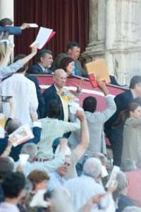 Clamor popular en contra de la presidenta Anabel Moreno. FOTO: Matito.