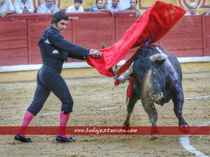 Morante de la Puebla esta tarde en la plaza de Badajoz. (FOTO: Gallardo / badajoztaurina.com)