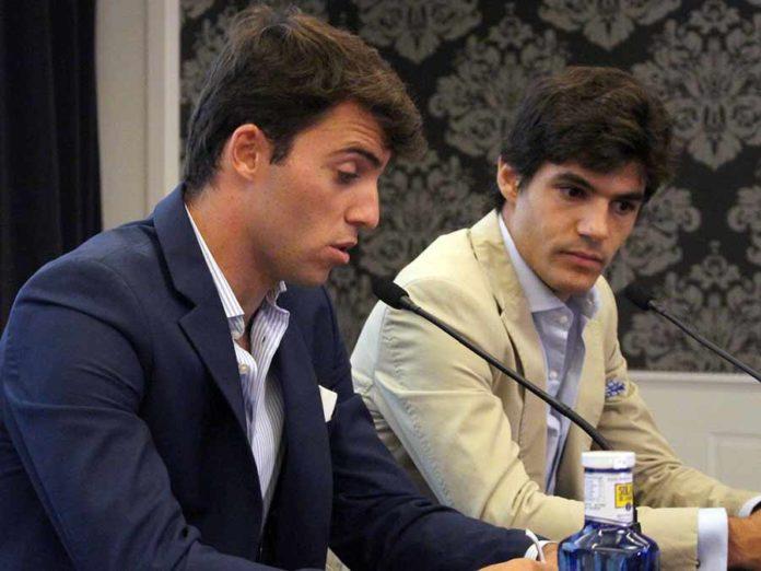 Rafa Serna y Pablo Aguado, en la presentación de su mano a mano en Sevilla el próximo jueves 15, festividad del Corpus.