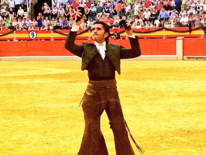Diego Ventura. triunfador hoy domingo en el cierre de la Feria de Granada.